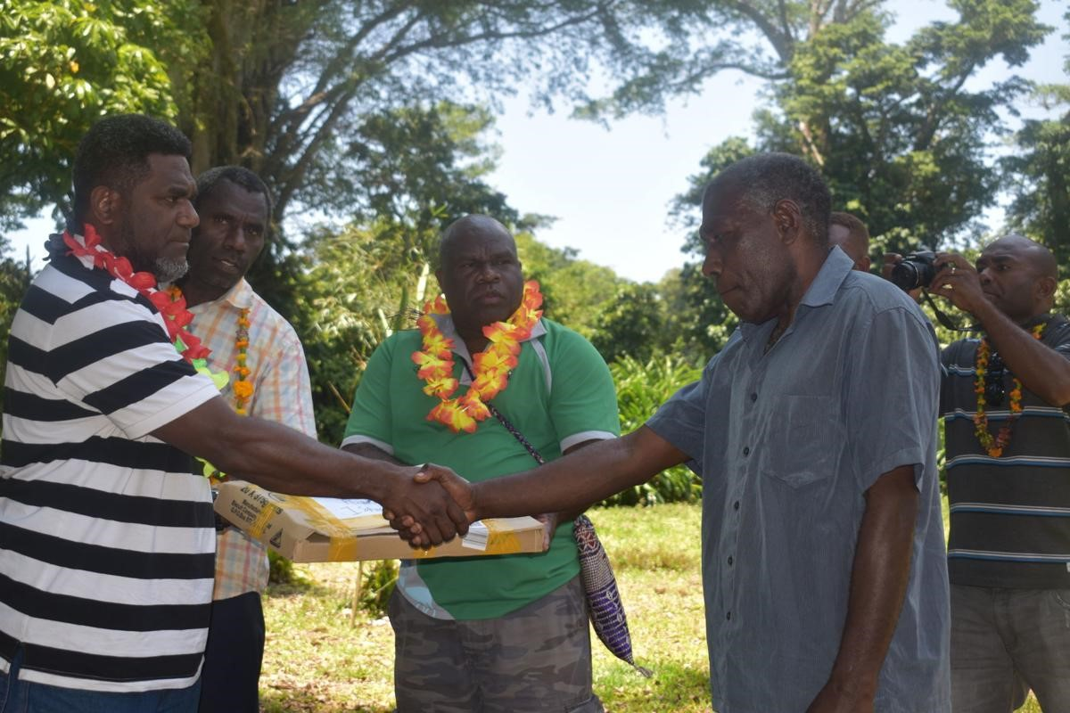 Department of Agriculture and Rural Development assists kava farmers with poly bags and materials to build nurseries