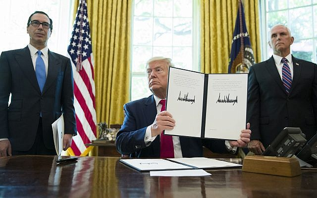 Trump signs executive order slapping 'hard-hitting' sanctions on Iran over drone shootdown