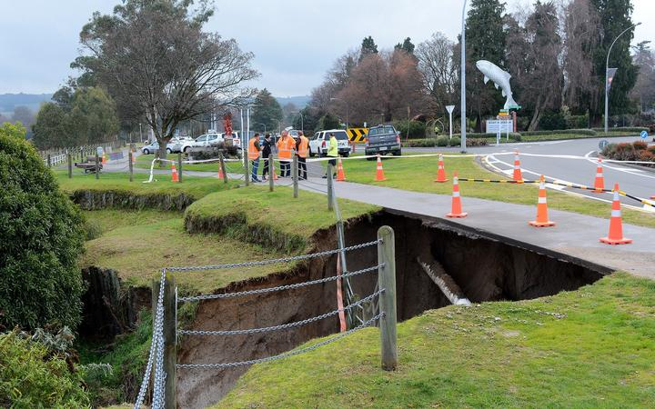 Residents asked to conserve water after pipe breaks, footpath collapses