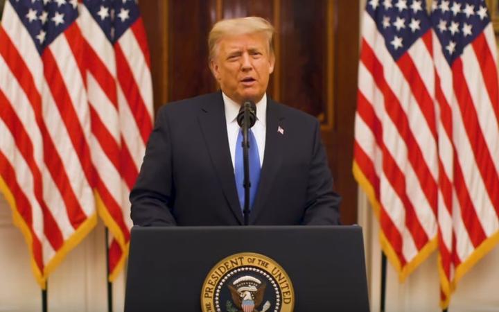 Biden arrives in Washington as Trump delivers farewell speech