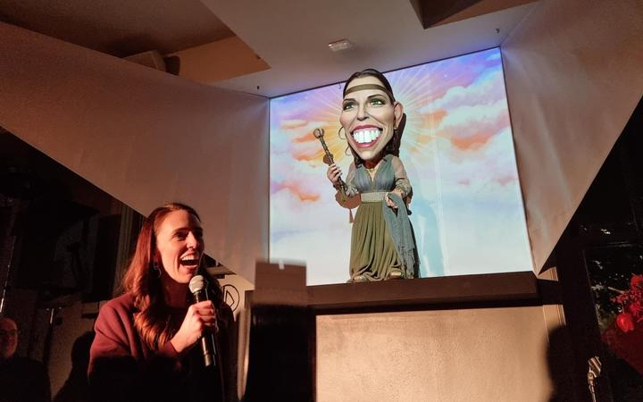 New political puppets unveiled at Wellington's Backbencher pub